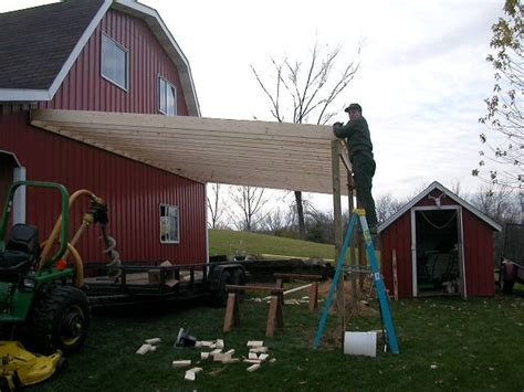 pole barn lean  addition plans euro shed