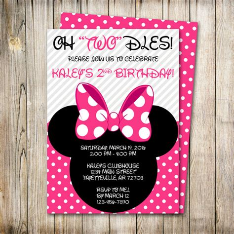 32 Minnie Mouse Birthday Invitation Templates Free Sle Exle Format Download Free Minnie Mouse 2nd Birthday Invitations Template