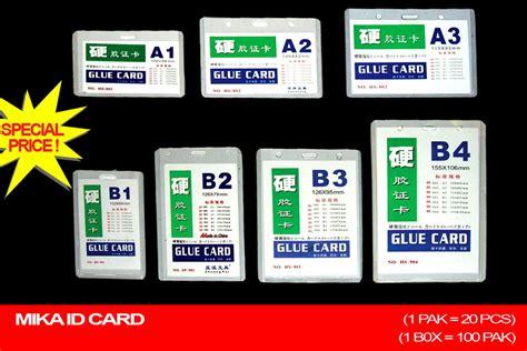 Card A3 Plastik Kartu Nama Name Tag Tebal Plastik Id Card id card a3 b3 sevenstationery