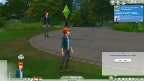 game mod for young child and teen can quit or rejoin school new no auto