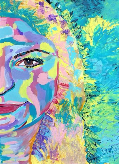 colorful portraits colorful abstract realism paintings self portrait by luzdy