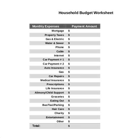 10 Household Budget Templates Free Sle Exle Format Download Free Premium Templates Daily Budget Template