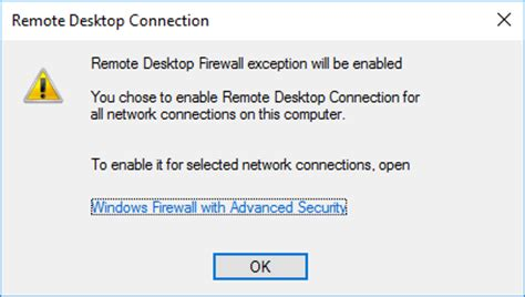 remote desktop firewall how to enable remote desktop in windows server 2016