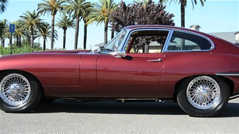 Type C Maroon Mu 1967 jaguar e type coupe maroon