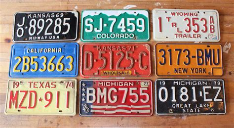 license tag license plates the cavender diary
