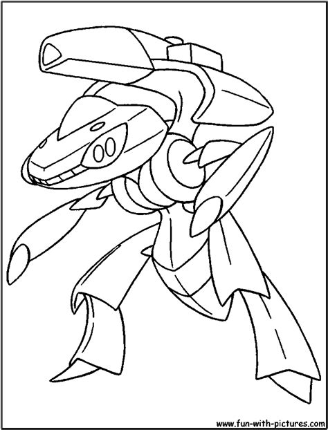 Pokemon Coloring Pages Genesect | genesect coloring page