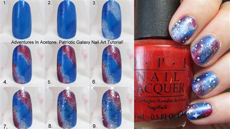 tutorial nail art galaxy tutorial tuesday patriotic galaxy nail art adventures