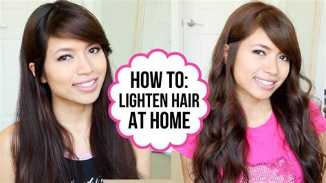 how to lighten my hair from black to light brown how to lighten hair that has been dyed dark brown