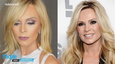 tamra judge straight hairstyles rhoc peggy sulahian chops 12 inches off her hair people com