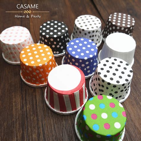 How To Make Baking Paper Muffin Cases - nut box 100pcs paper polka dot cup cups baking cake