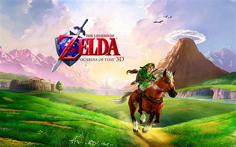 ocarina of time the legend of ocarina of time 3d wallpaper gamebud