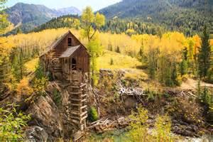 Wallpaper Crystal Mill, Colorado, Autumn, Trees Free Desktop Wallpaper