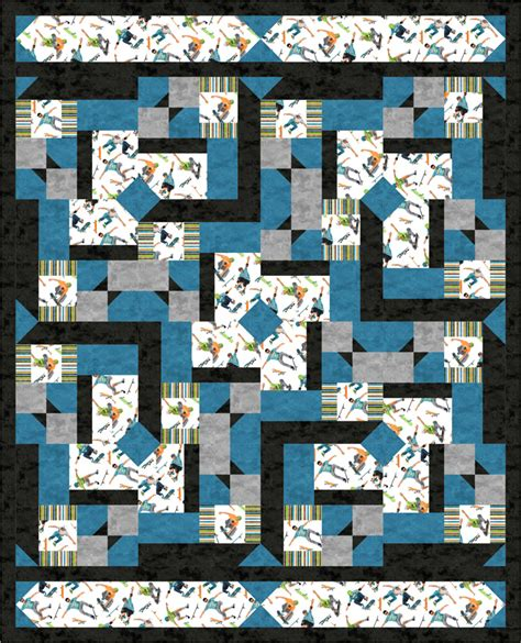 Sport Quilt Patterns by Favorite Sports Quilt Pattern Bs2 422 Advanced