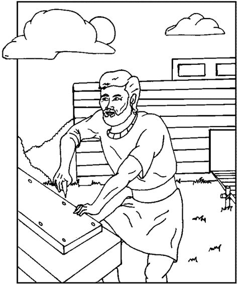flood coloring pages