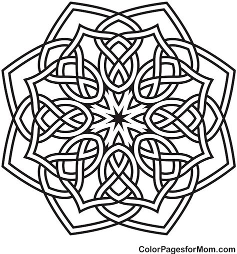 geometric coloring pages advanced level coloring pages