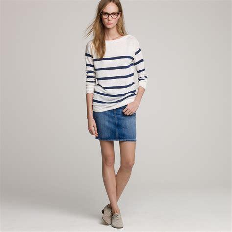 j crew mih 174 delancey denim skirt in blue gill wash