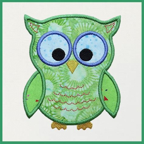 free applique downloads owl machine embroidery applique blue feather quilt