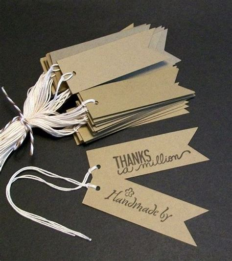 Craft Paper Tags - flag tags pennant tags kraft price tags rustic