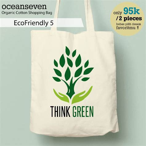 Tas Tote Tas Belanja Murah Serbaguna Motif Minnie Mouse 1 jual tas belanja organic cotton shopping bag tote bags goodie bag souvenir motif think green