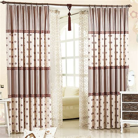 Modern Insulated Linen Bay Window Blackout Curtains