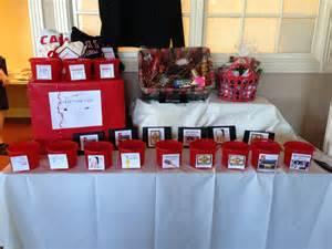 raffle prize table frg christmas ideas pinterest