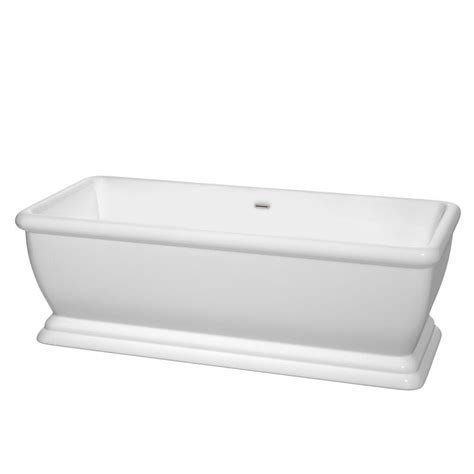 7 Ft Bathtub by Wyndham Collection 5 7 Ft Acrylic Classic Flatbottom Non Whirlpool Bathtub In White