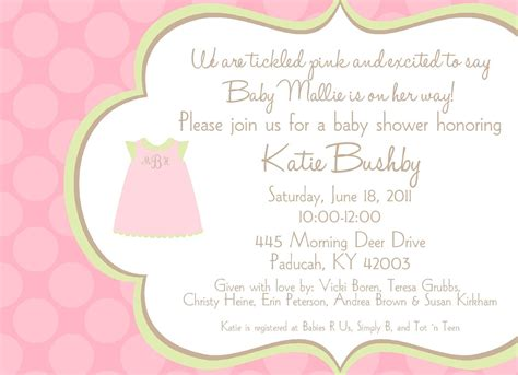 baby shower announcements templates baby shower invitation wording ideas dancemomsinfo