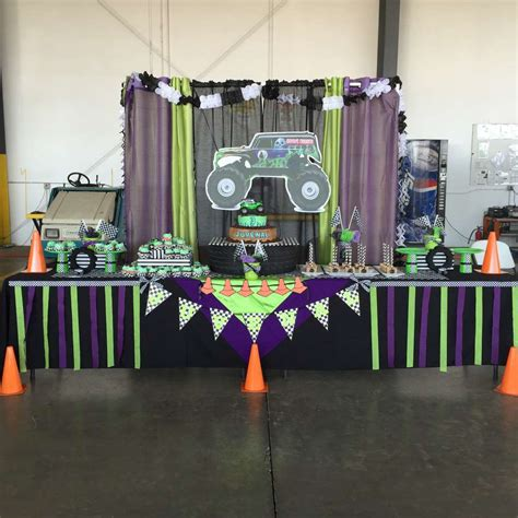 grave digger truck birthday supplies jam gravedigger birthday ideas photo 4 of