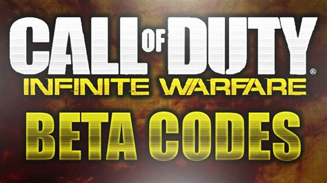 Beta Code Giveaway - free quot infinite warfare beta quot code giveaway now call of duty infinite warfare