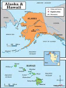 map of the united states showing alaska and hawaii
