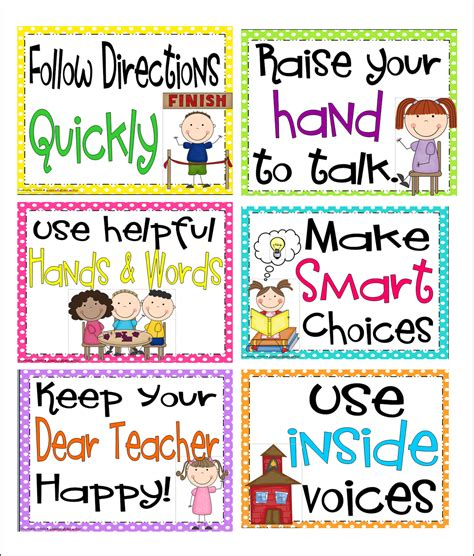 printable instructions classroom inspired by kindergarten behavior charts here s what i