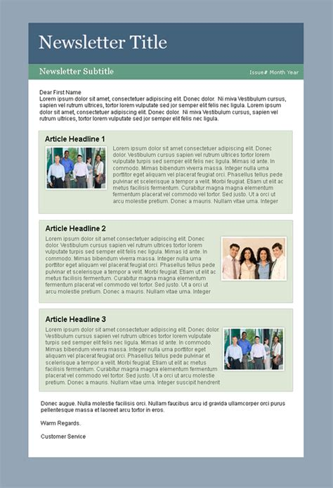newsletter layout template arpablogs simple newsletter