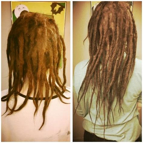 pre dreaded hair extensions dreadlocks extensions before and after www imgkid com