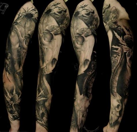 dark forest tattoo sleeve forest tattoo leg cool