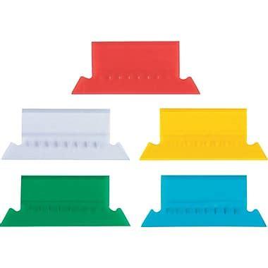 "Staples® Plastic Hanging File Folder Tabs, 3 1/2"" x 5/8"