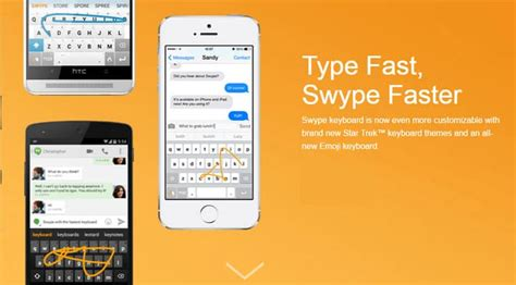 swype keyboard themes download swype keyboard adds star trek keyboard themes emoji