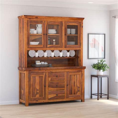 naperville rustic solid wood glass door dining room