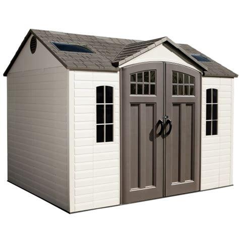 lifetime garden shed  plastic storage building