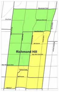 map of richmond hill ontario canada pages school trustee ward map richmond hill