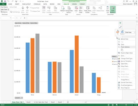 How To Save A Customized Chart As An Excel 2013 Template Dummies Excel Graph Templates Xls