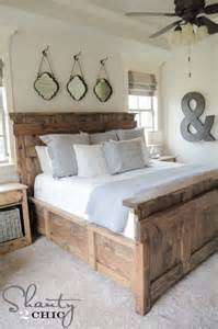 Build Your Own Queen Size Platform Bed Frame by 48 Cozy And Inviting Farmhouse Bedrooms Comfydwelling Com