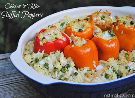 chicken and rice stuffed peppers recipe adventures of mel