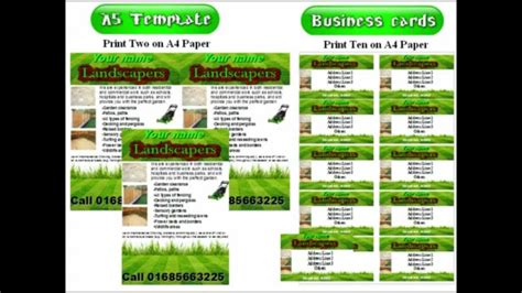 landscape gardening leaflets flyer template youtube