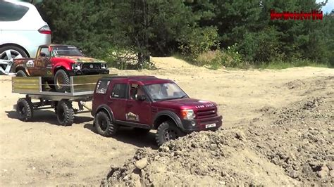 rc land rover discovery 3 big trailer