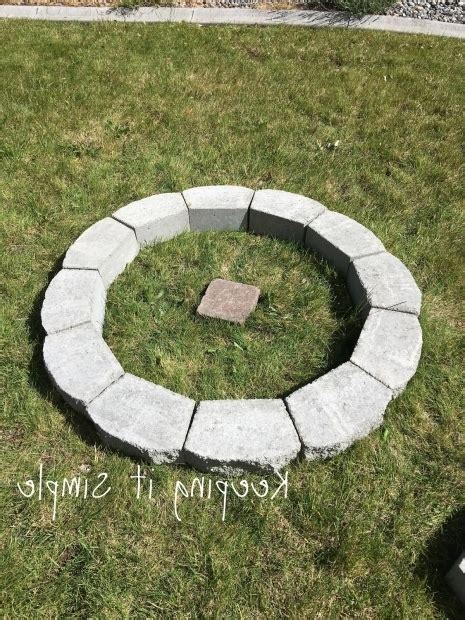 how to build a firepit with pavers building a pit with pavers pit ideas