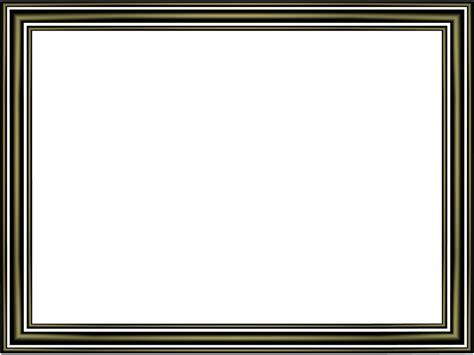 Shiny Black Elegant 3 Separate Bands Rectangular Powerpoint Border   3D Borders