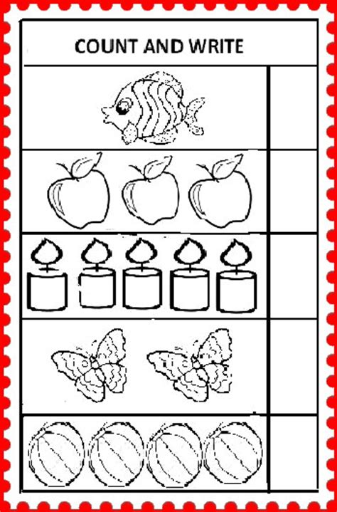 Count And Write Number Worksheets For Kindergarten you can