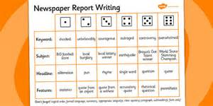 Writing News Report Template newspaper report writing dice activity writing aid