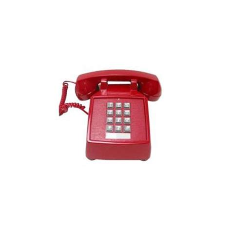 cortelco desk value line corded telephone red itt 2500