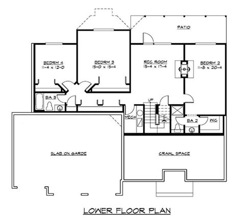 ranch floor plans with basement craftsman ranch home with 4 bedrms 3170 sq ft plan